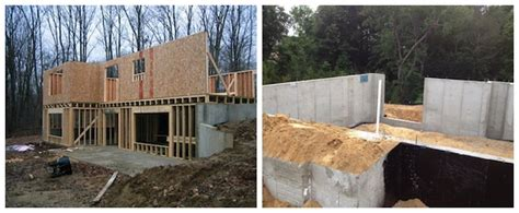 walkout basement construction frame or concrete rear wall on walkout basement ask the builder