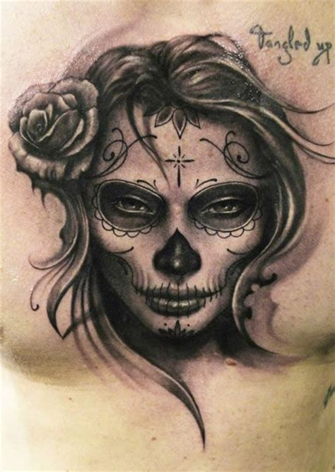 sugar skull tattoo by riccardo cassese tattoomagz