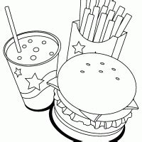 free coloring pages fast food fast food coloring pages 14