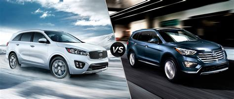 Compare Kia Models Comparison Sante Fe Vs Sorento Autos Post