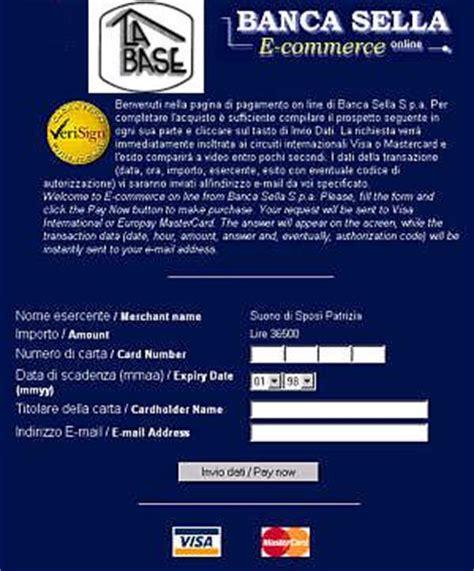 banca sella carte spazi web payment gateway banca sella carte di credito
