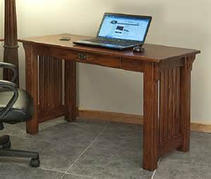 mission style solid oak office computer desk 55 quot the oak furniture shop