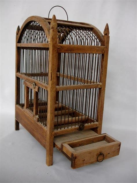 wooden cage antique handmade wood bird cage