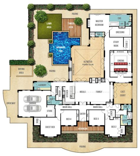 big house plans floor plan friday federation style splendour