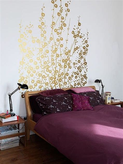 painted wall headboard ideas gold headboard headboards and the gold on pinterest
