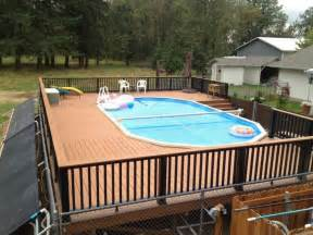 Backyard Above Ground Pool Landscaping Ideas Pool Fence Ideas For Beauty Privacy And Safety