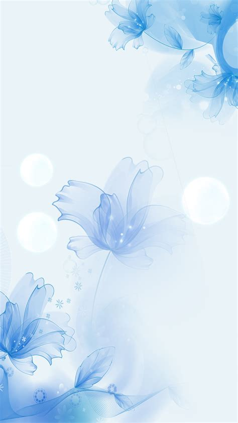 mask skin care  background blue flowers mask
