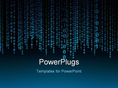 binary powerpoint template powerpoint template a lot of binary number threads with