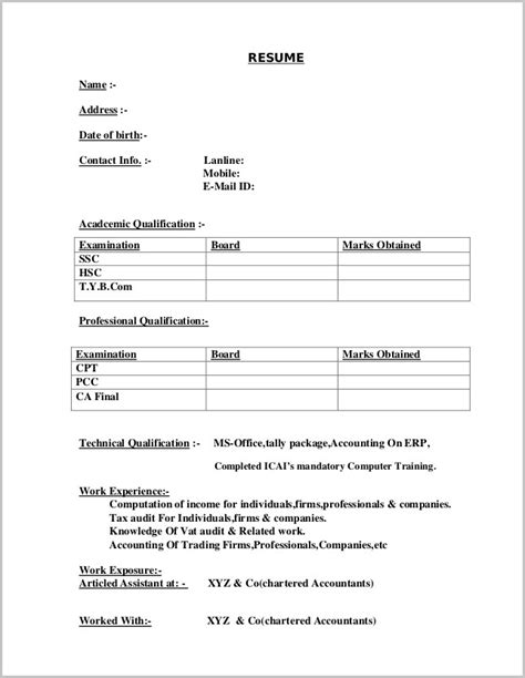 Simple Resume Template Microsoft Word by Resume Template For Word Resume Template Easy Http