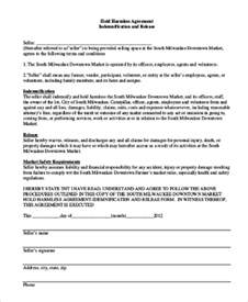 consignor agreement template hold harmless agreement form sle 8 free documents in
