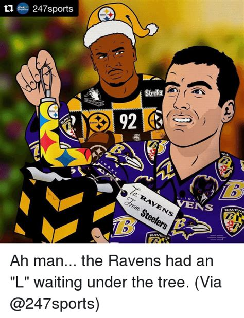 Steelers Vs Ravens Meme - 247 sports steelers steelers stetler 92 l i vens drom