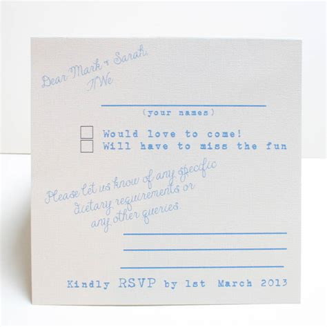 reply to wedding invitation not able attend let there be rsvp card by ohmydearjulia