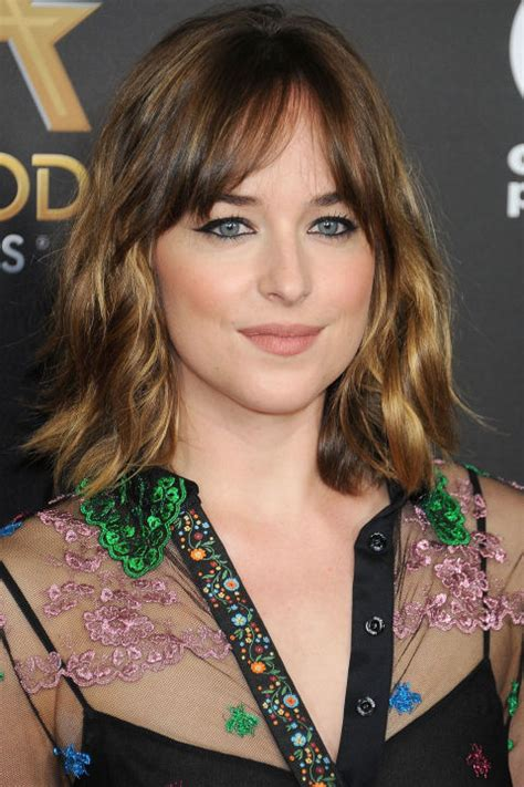 how to get bangs like dakota johnson warm celebrity winter hairstyles hairstyles 2017 hair