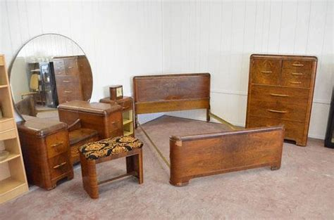 Bed Bigland 3 In 1 deco 1930 s waterfall bedroom set vanity home