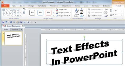 microsoft powerpoint layout text effects new text effects in powerpoint 2010 powerpoint tutorials