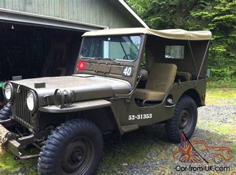 Willys Jeep For Sale Bc Willys M38 M38