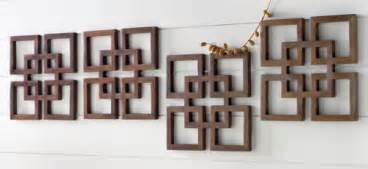 Decorative wooden wall art idea for a home