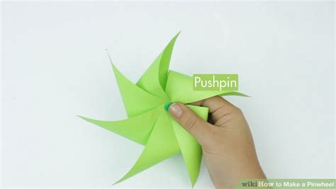 Make A Paper Pinwheel - 4 ways to make a pinwheel wikihow