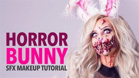 zombie bunny tutorial horror bunny special fx makeup tutorial youtube