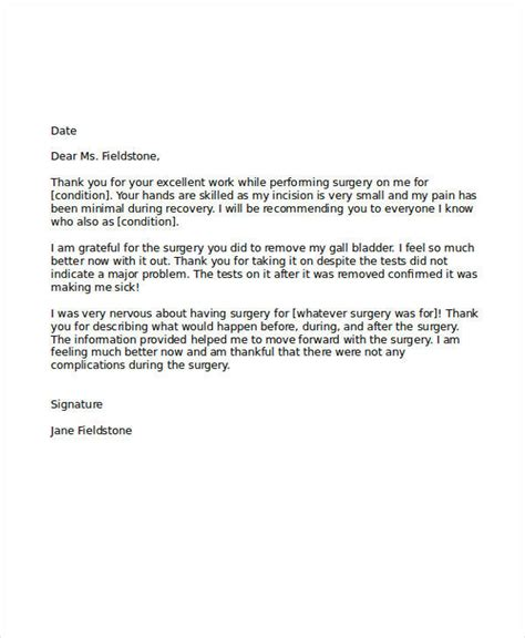 thank you letter to doctor after delivery 5 sle thank you letter to doctor exles in word pdf