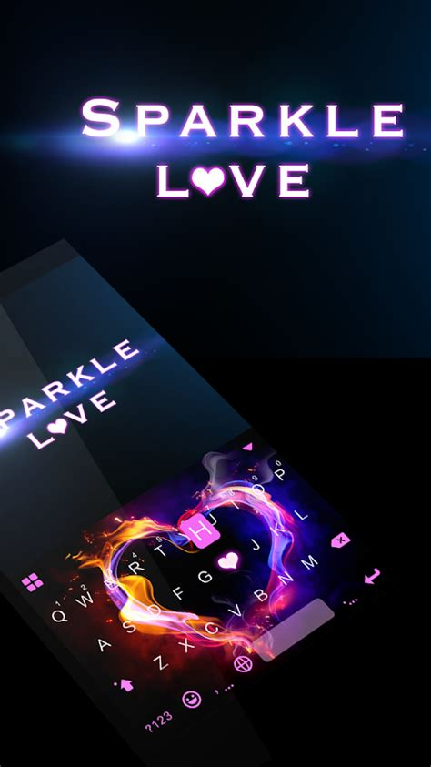 themes for android sparkle v sparkle love keyboard theme android apps on google play