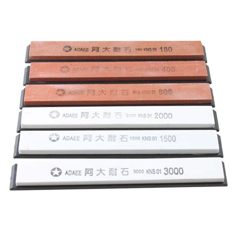 Sharpening Stone For Kitchen Knives adaee 6 sharpening stones for kitchen knife professional