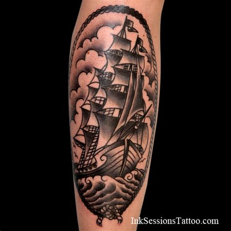 clipper ship tattoo ink sessions clipper ship ink sessions
