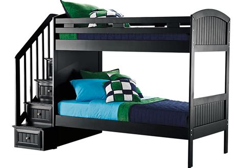 Bunk Beds Rooms To Go Cottage Colors Black Step Bunk Bed Beds Colors
