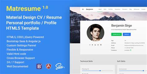 Download S2 Matresume Material Cv Resume Vcard Portfolio Html Template Themede Profile Website Template