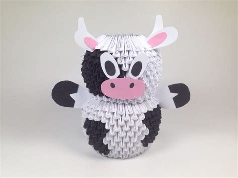 3d Origami Cow - 149 best images about 3d origami on