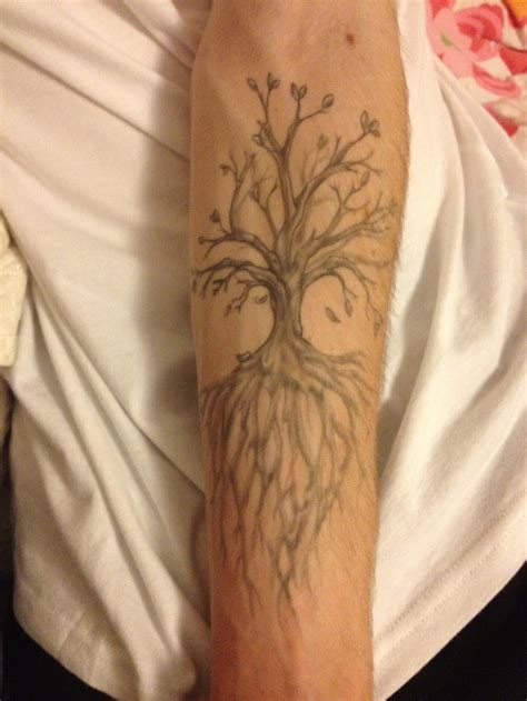 tree tattoos forearm quot tree of quot forearm