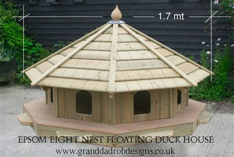 epsom  floating duck house df epsom duck houses