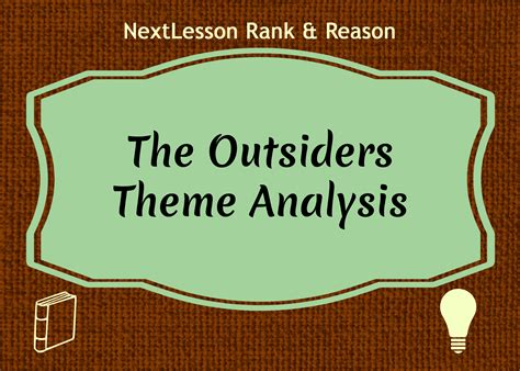 themes in the outsiders novel the outsiders theme essay language arts ms bozzi grade