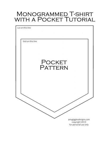 plain t shirt with pattern pocket printable shirt pocket pattern monogrammed t shirt with