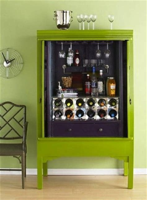 Diy Mini Bar Cabinet Repurposing Armoires Armoire Diy Projects 13 Creative Ideas Bob Vila