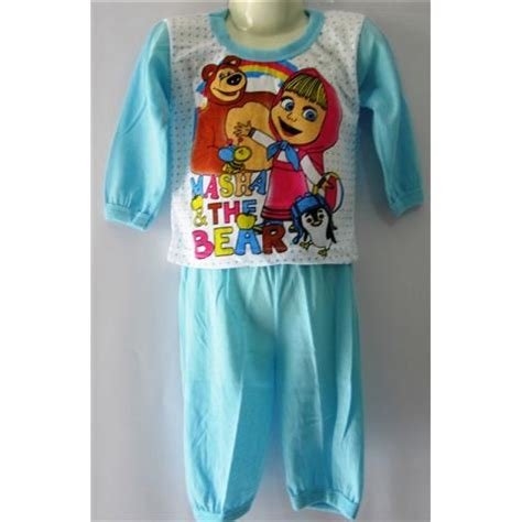 Baju Tidur Panjang Anak Motif Dinosaurus jual pakaian baju anak lengan panjang motif kartun toko