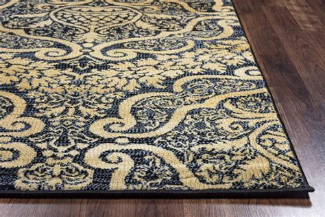 7 X 7 Area Rug Royal Ornamental Pattern Area Rug In Black 5 3 Quot X 7 7 Quot