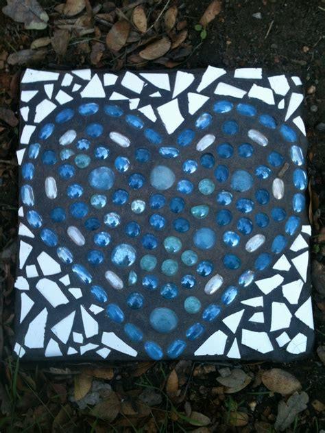 Mosaic Garden Stones by Mosaic Stepping Mosaic Hearts