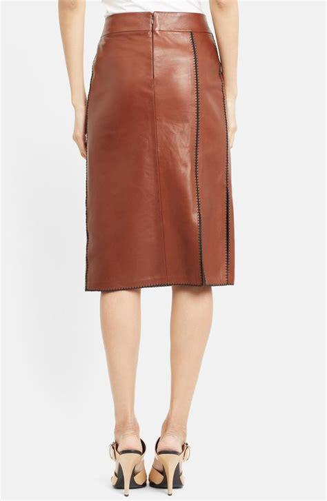 side slit leather skirt endource
