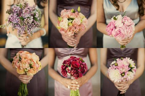 Bridesmaid Bouquet wedding flower trends mismatched bridesmaid bouquets