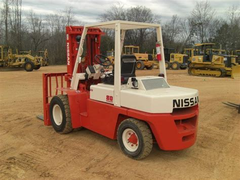 nissan 80 forklift j m wood auction company inc