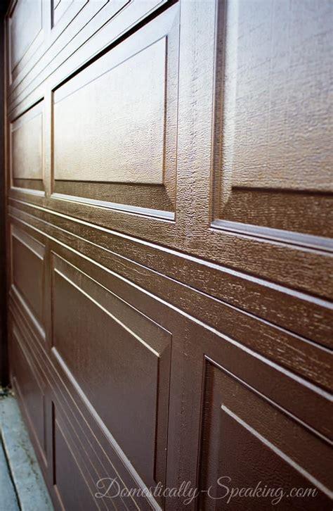 how to stain a wood garage door