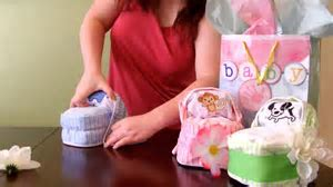 How to make a Diaper Cake  Small Bassinet for baby shower   YouTube