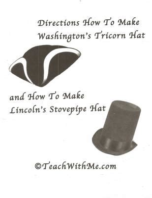 How To Make A Paper Tricorn Hat - tricorn stovepipe hats for president s day