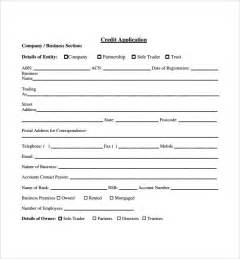 Template For Credit Application Credit Application Forms 9 Documents Free In