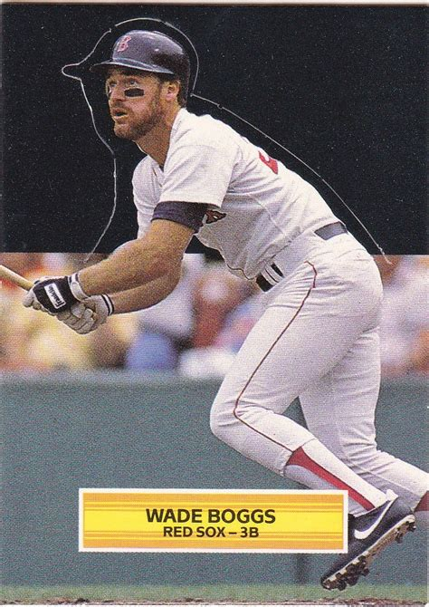 wade boggs swing swing and a pop up 1989 donruss pop ups