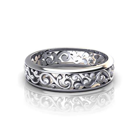 scroll pattern wedding ring jewelry designs