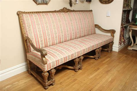 louis xiv sofa a french louis xiv style sofa with gilt wood frame at 1stdibs