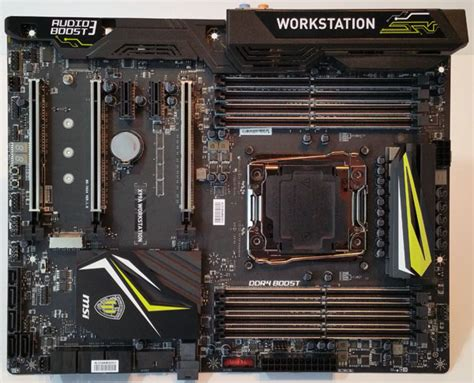 best msi motherboard msi x99a workstation motherboard review