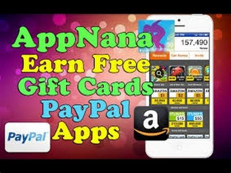 How To Get Free Paypal Gift Cards - earn how to get free 50 itunes paypal steam gift cards appnana no credit card no